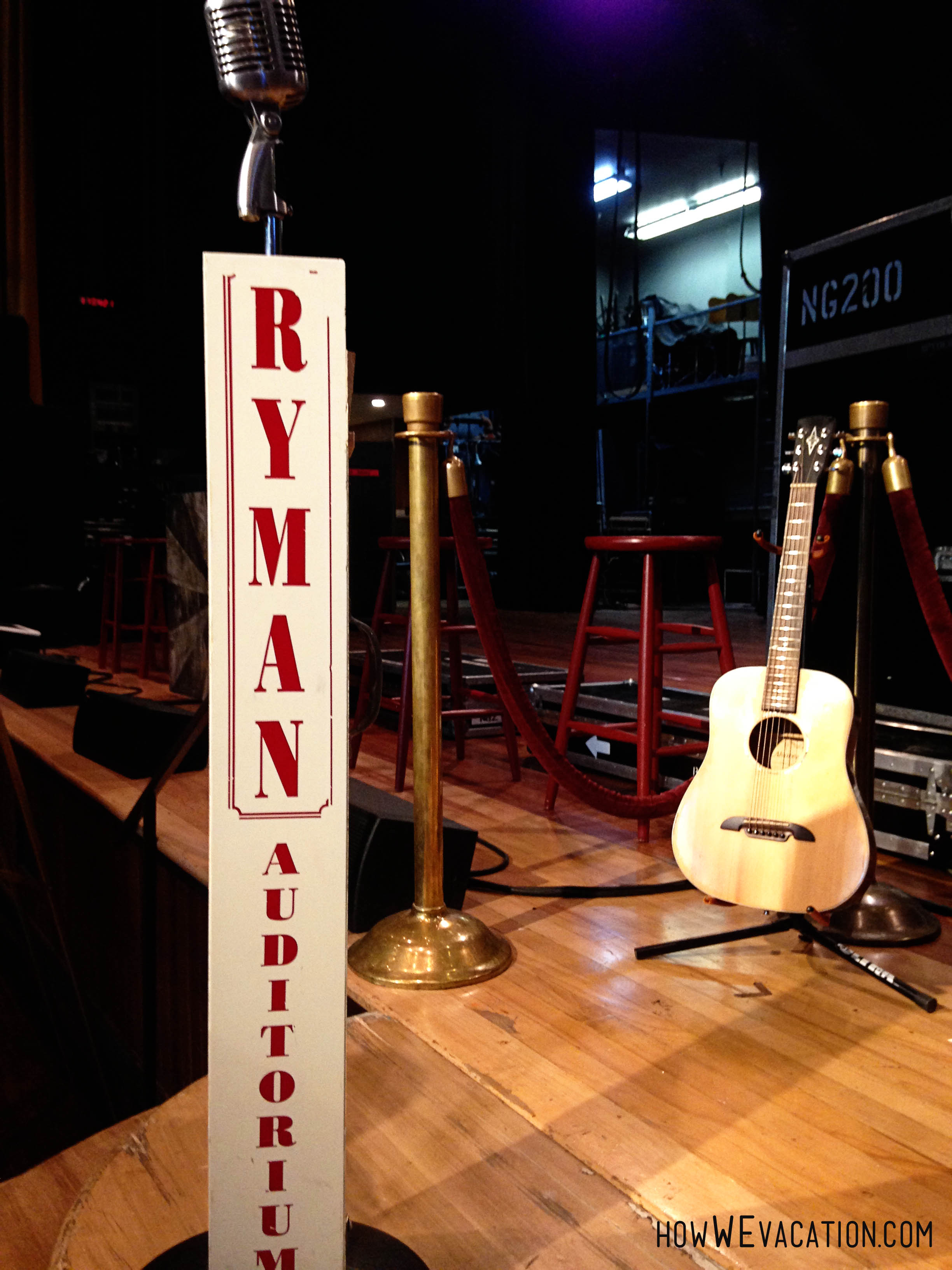 Stage at Ryman Auditorium