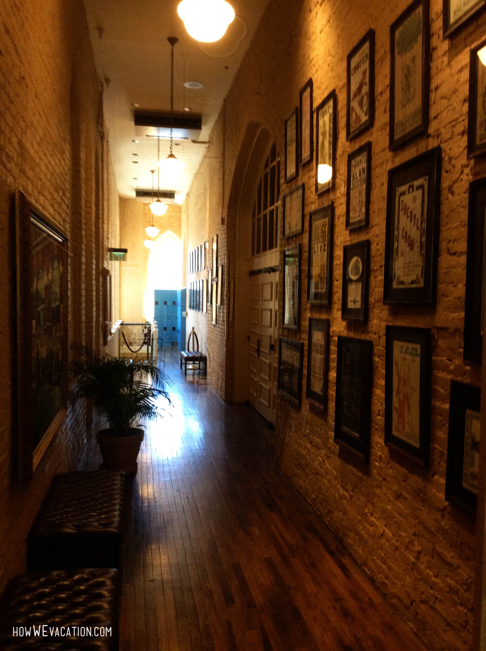 Ryman Auditorium upstairs hallway
