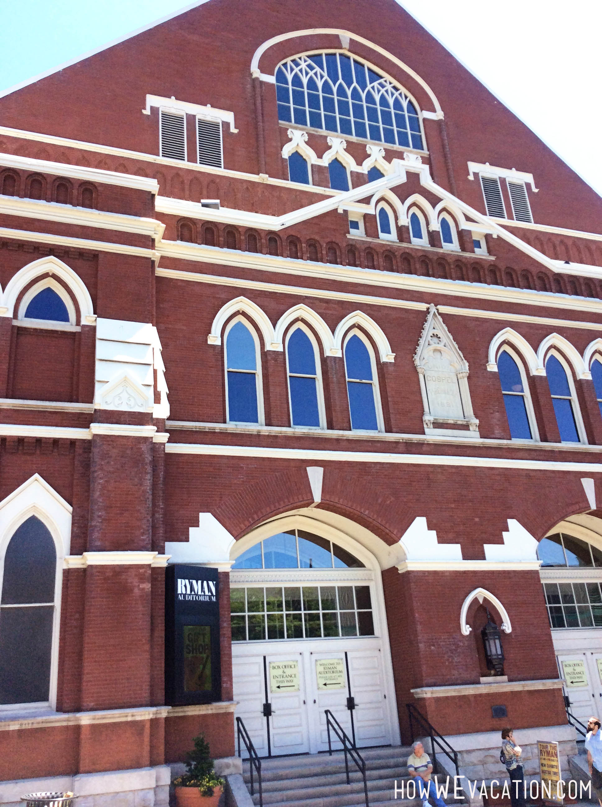 Ryman Auditorium in Nashville, Tennessee