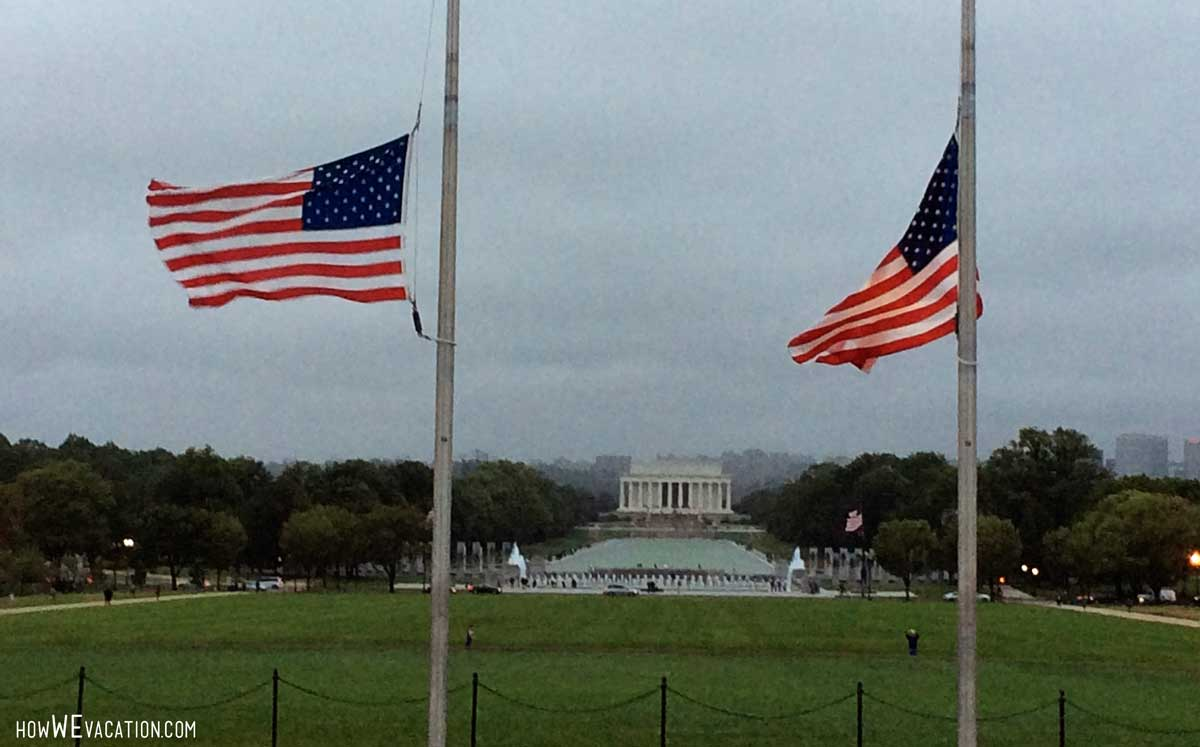View of Lincoln Memorial from Washington Monument