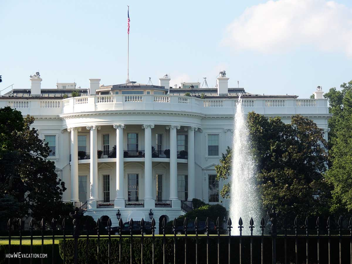 The White House Water fountain