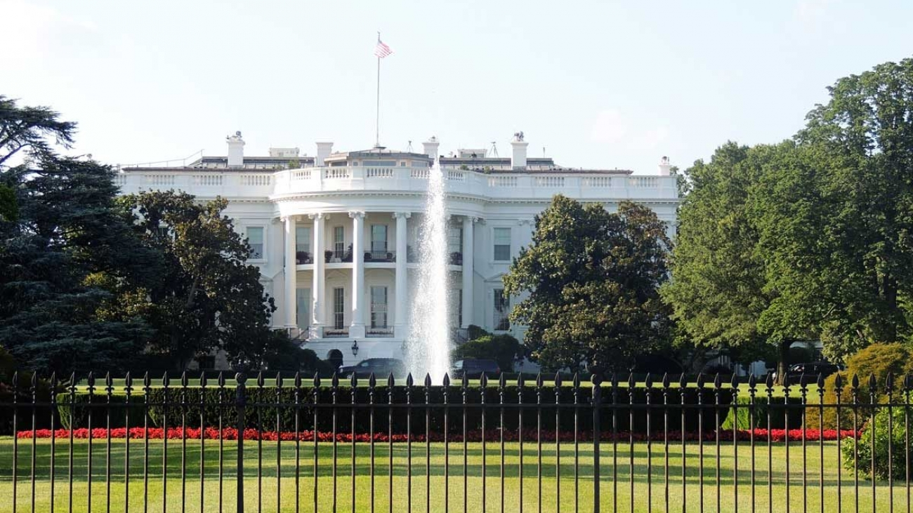 View of the White House from the street