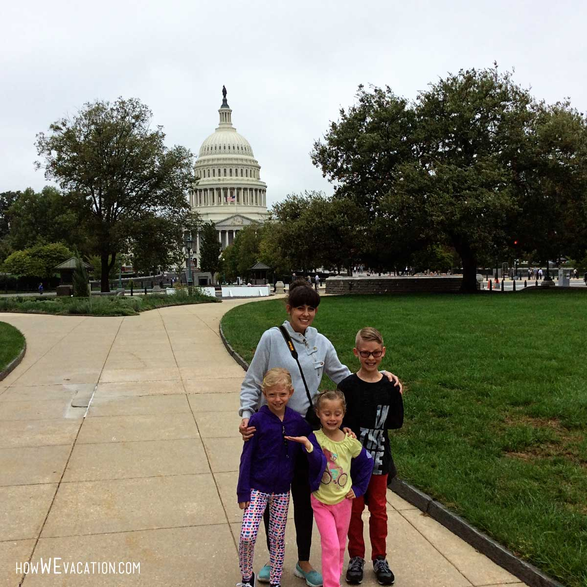 Kids at the capitol, Washington D.C.