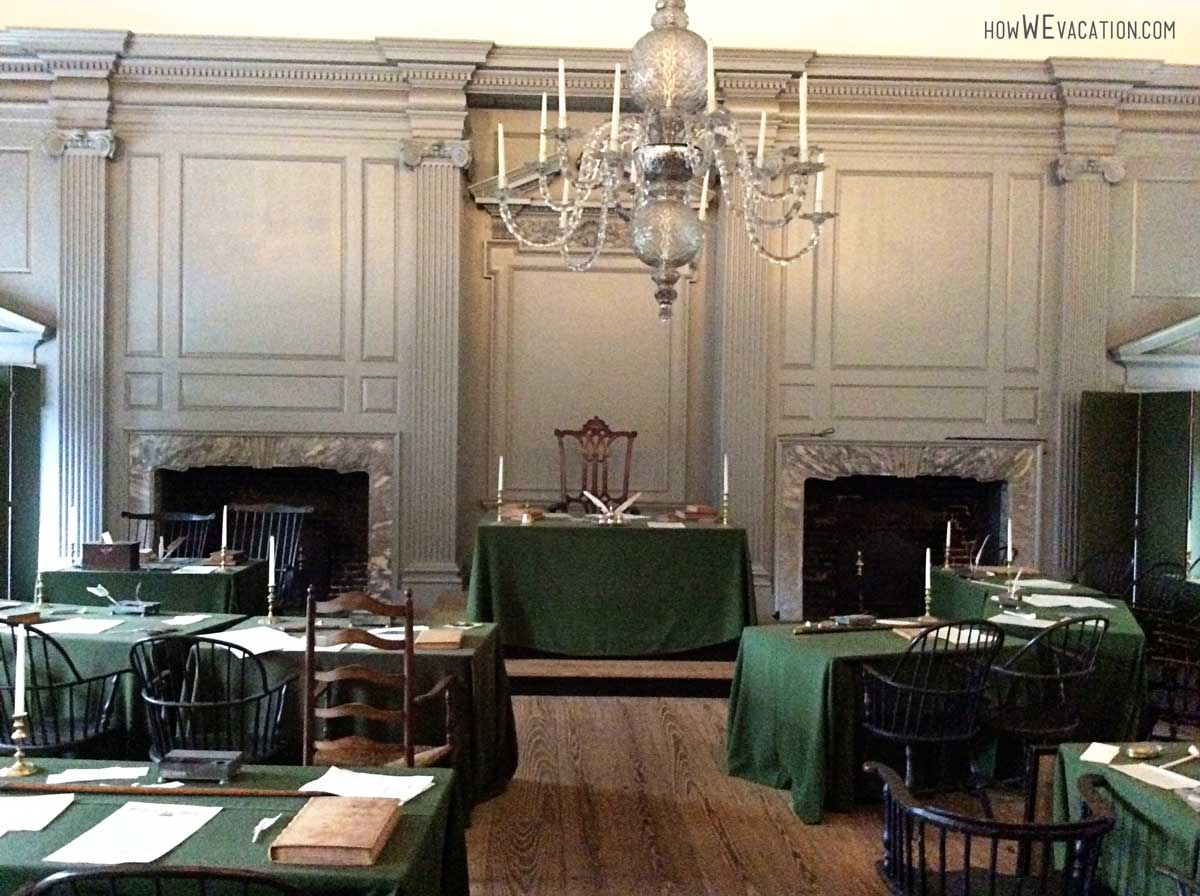 Room where Bill of Rights was signed at Independence Hall