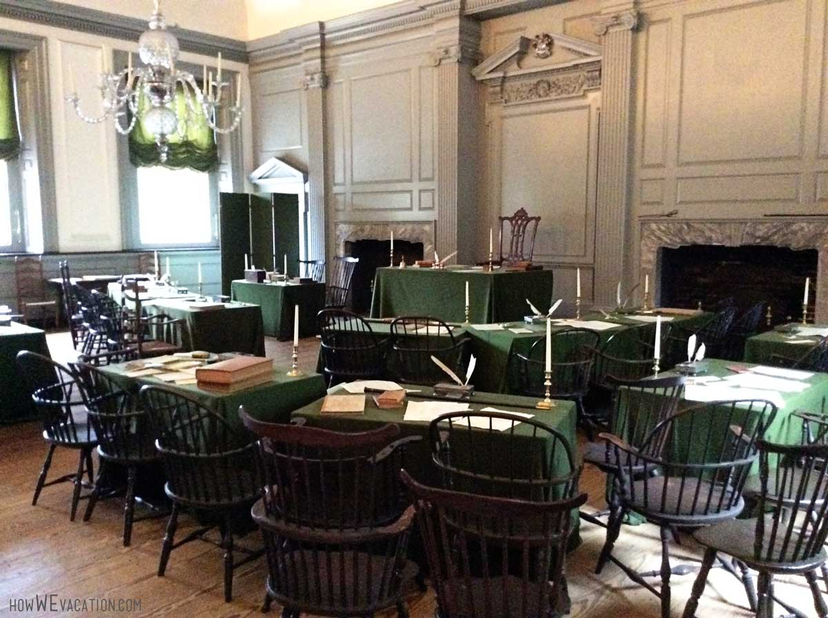 Constitution signed inside this room at Independence Hall