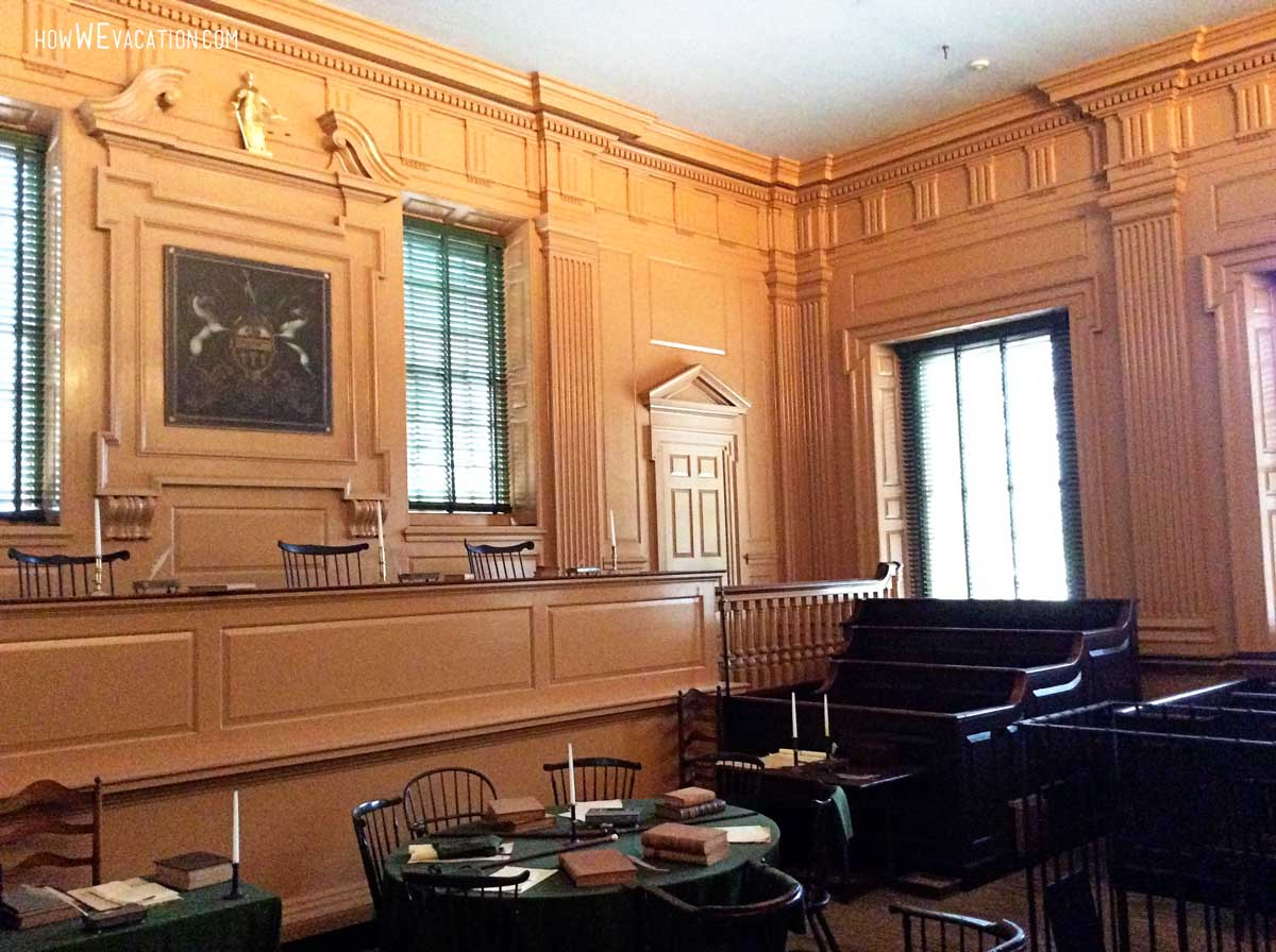 Courtroom inside Independence Hall