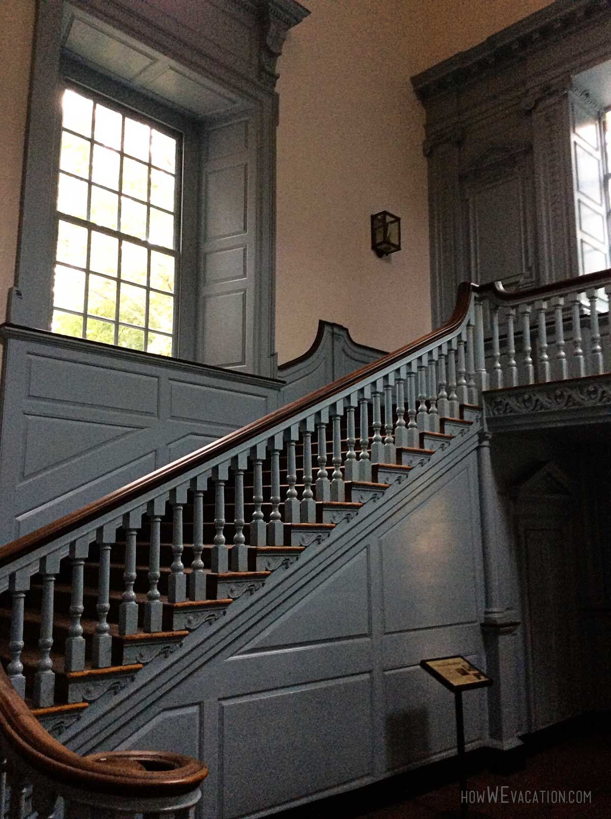 Staircase inside Independence Hall