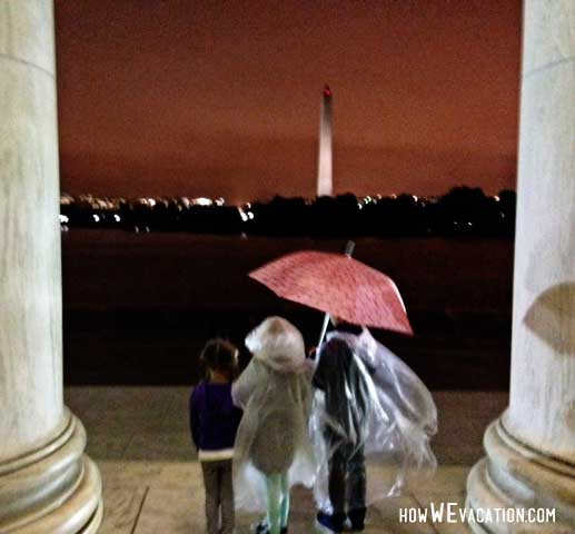 Jefferson Memorial with Kids