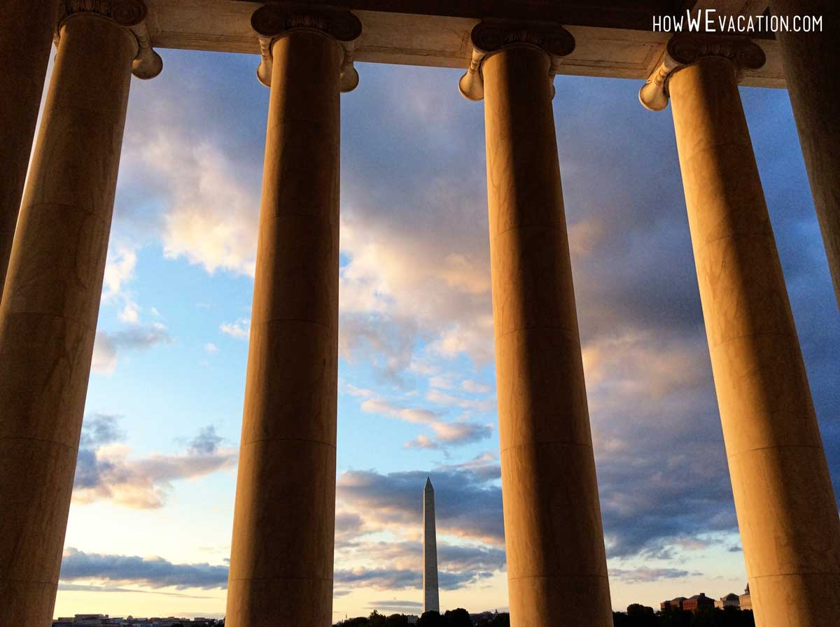 Washington Monument from Jefferson Memorial