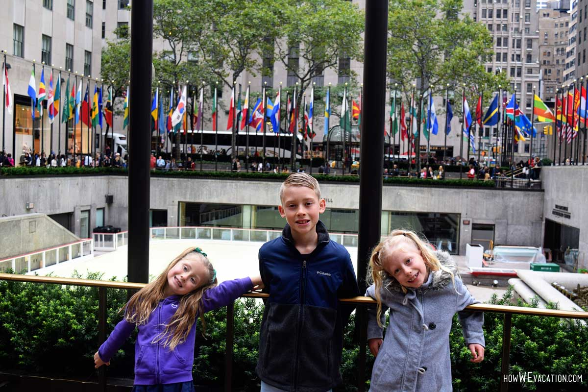 rockerfeller plaza with kids
