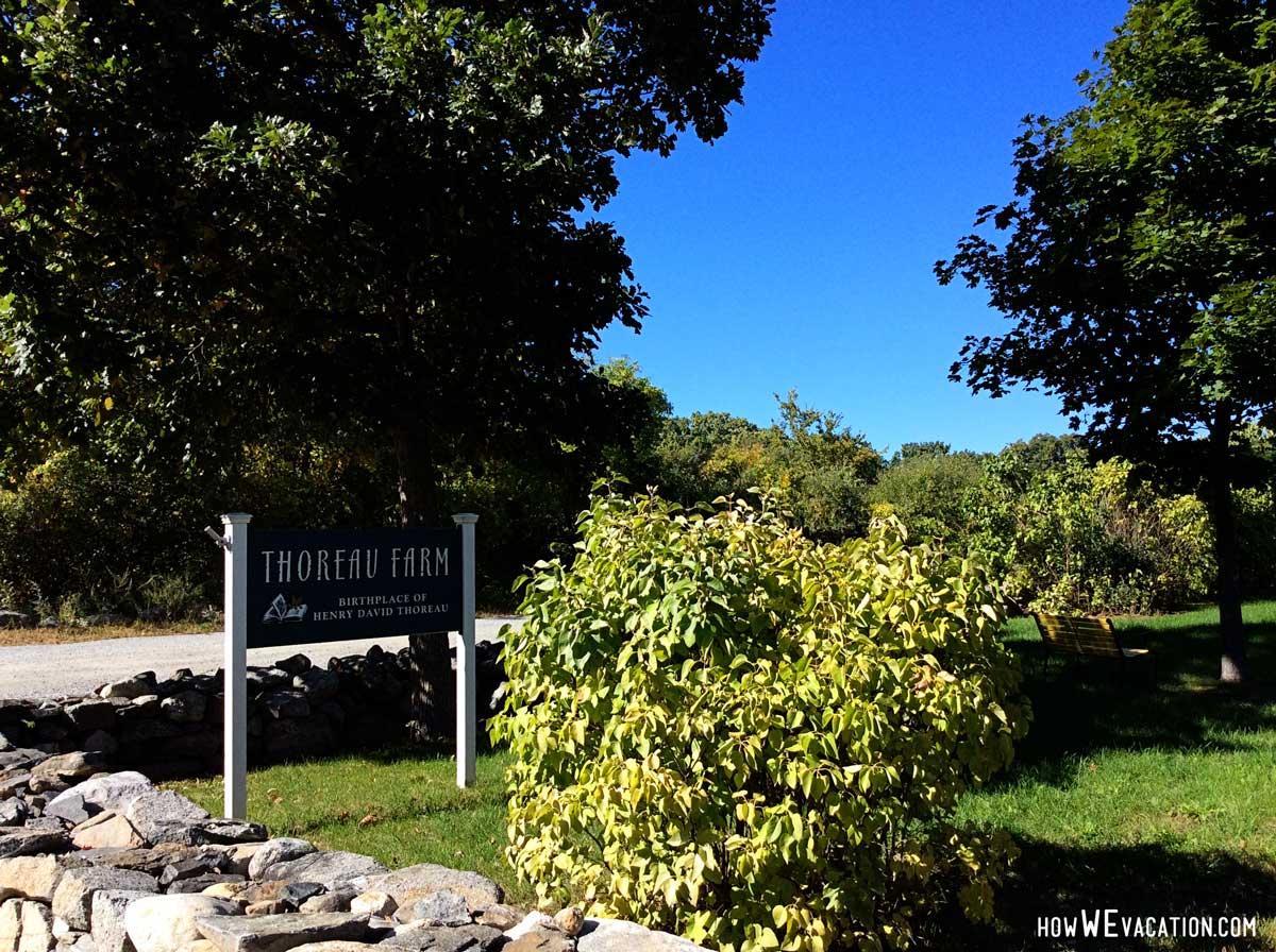 Thoreau Farm Entrance