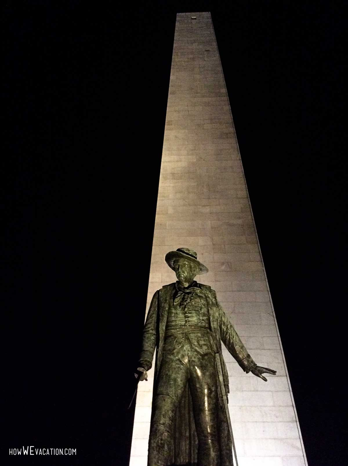 bunker hill at night