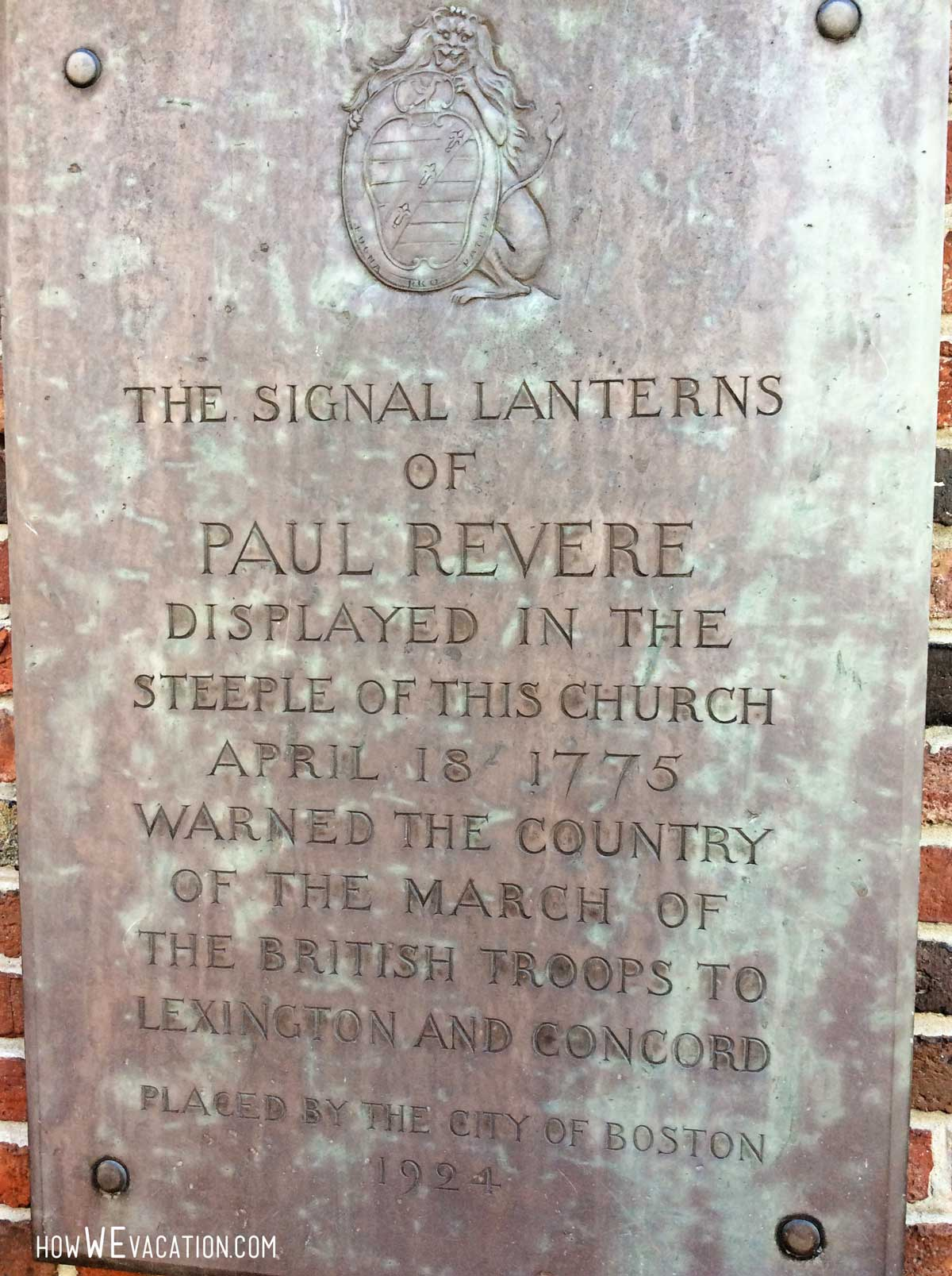 signal lanterns of paul revere