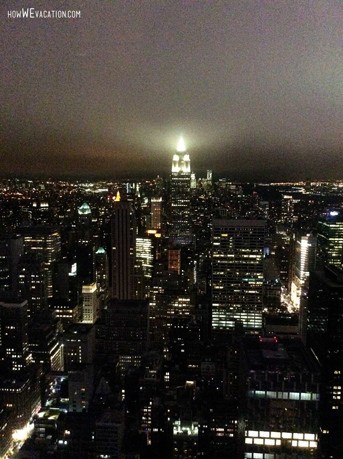 nyc view from top the rock