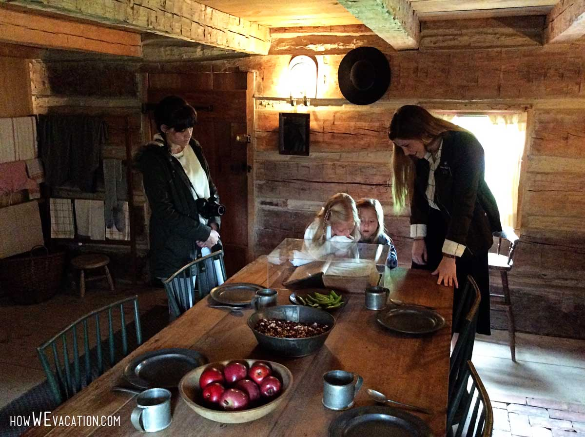 LDS History Site Log Cabin Kitchen