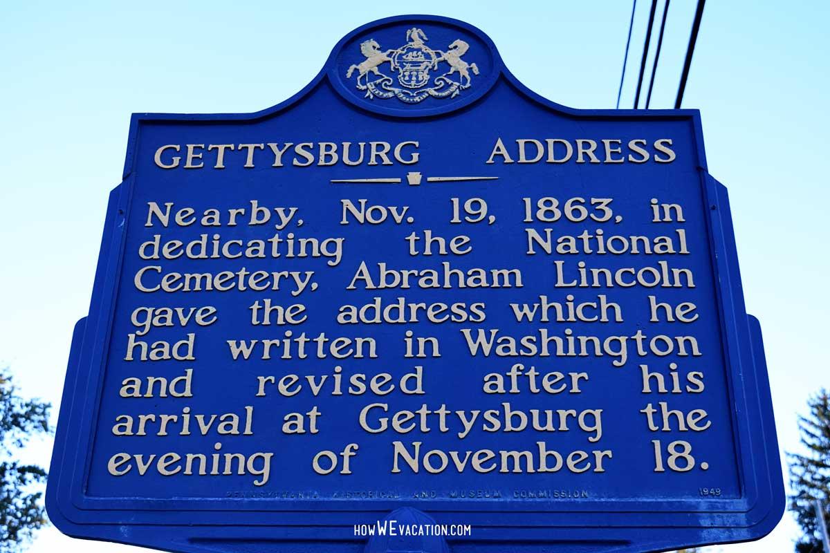 Gettysburg Address Sign