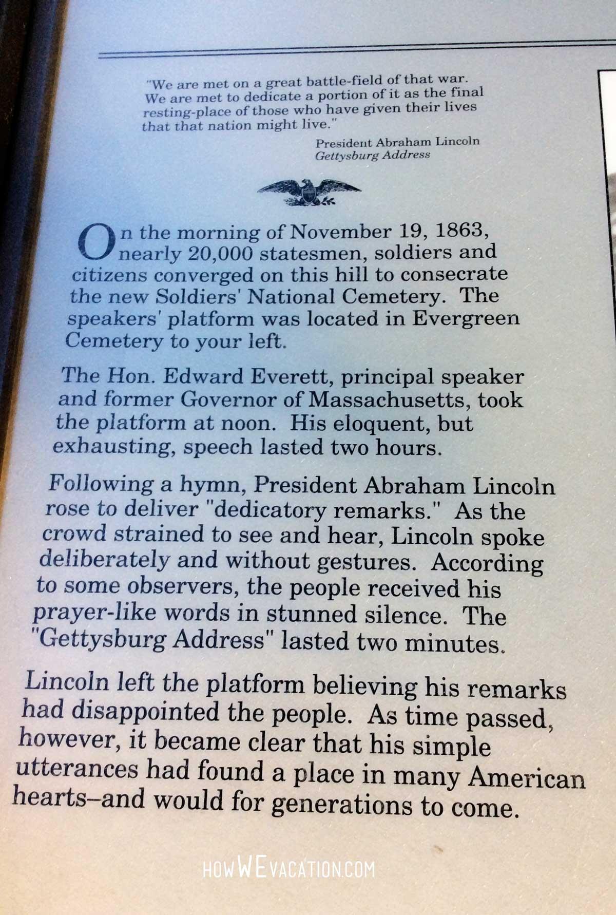 Gettysburg Address History