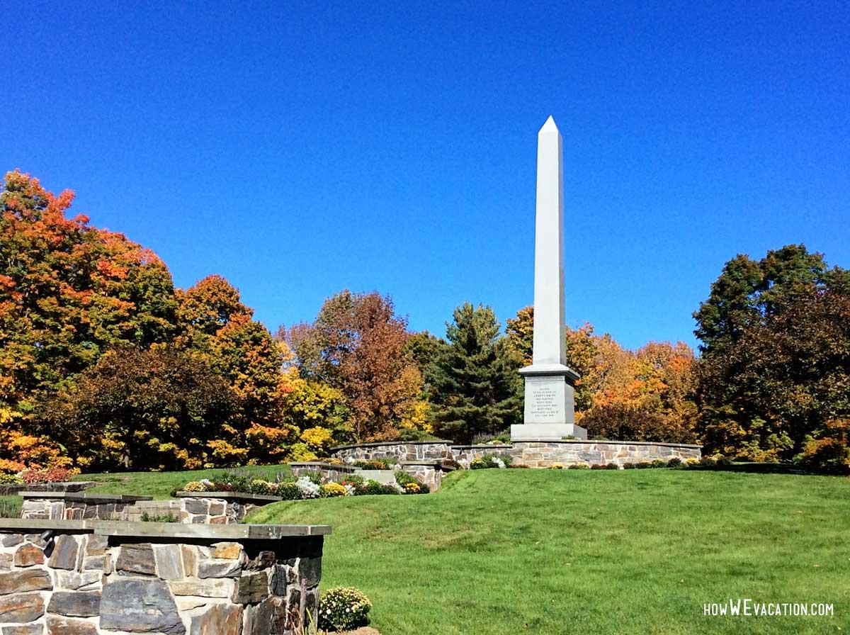 Joseph Smith Memorial statue in Sharon, VT