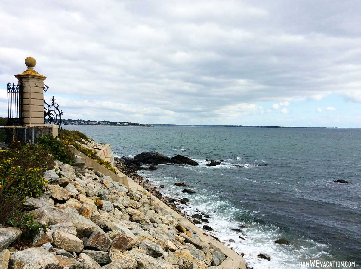 view from cliffs on newport RI