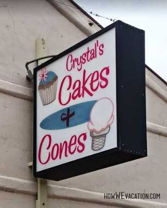 crystals cakes and cones